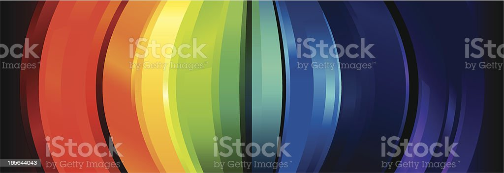 Rainbow Crystal Arc Lines royalty-free rainbow crystal arc lines stock vector art & more images of arts culture and entertainment