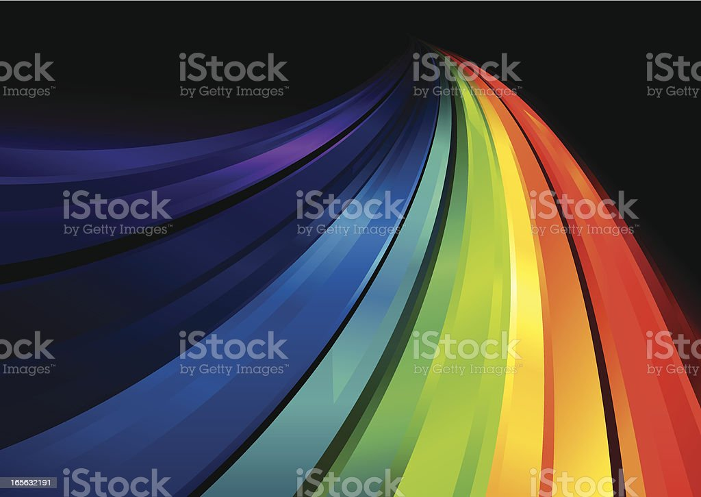 Rainbow Crystal Flowing Lines royalty-free stock vector art