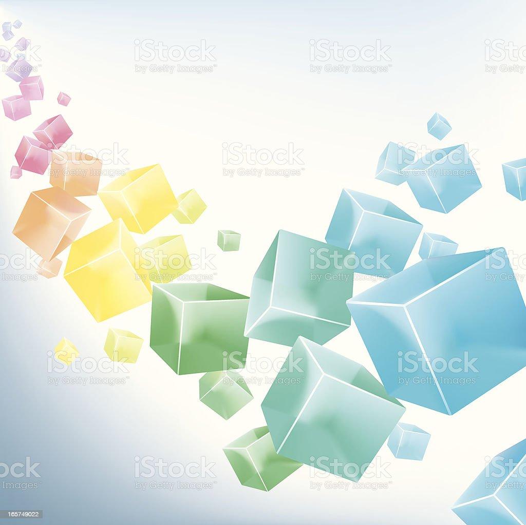 rainbow cubes royalty-free stock vector art