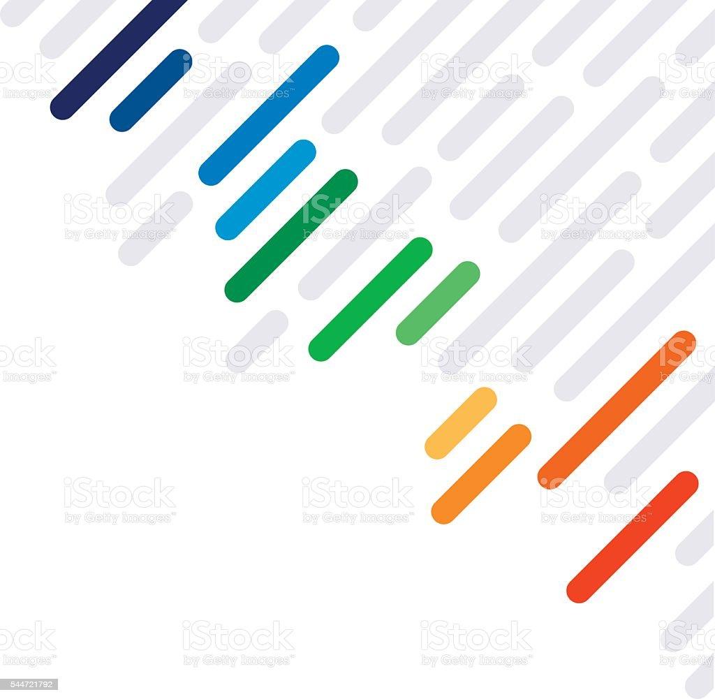Rainbow Dash Abstract Lines Background Pattern Vector Desain Keren