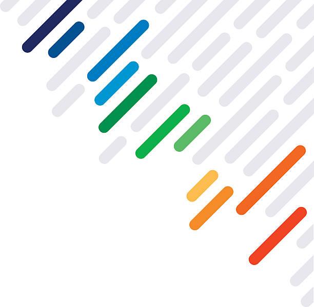 stockillustraties, clipart, cartoons en iconen met rainbow dash abstract lines background pattern - herhaling begrippen
