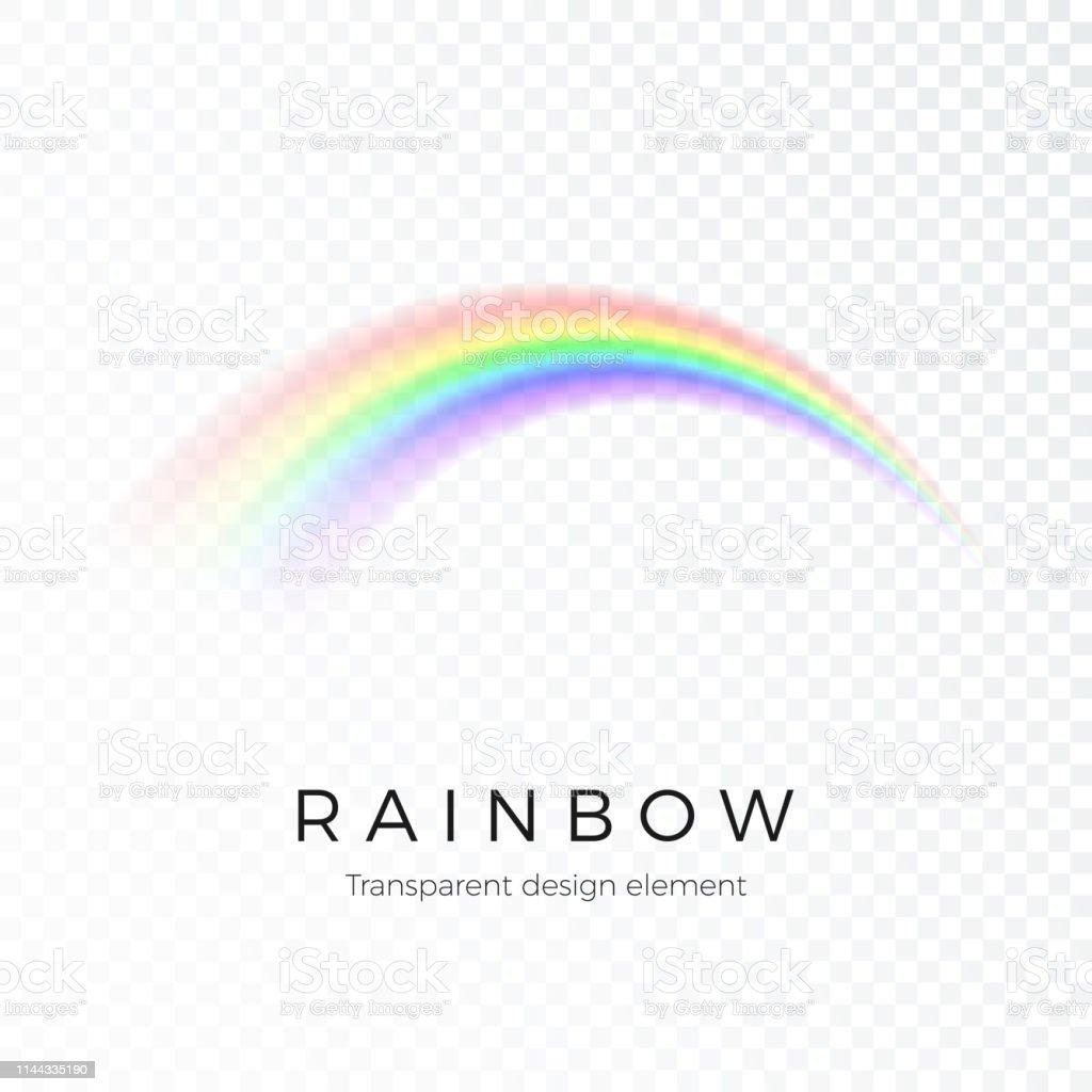 Rainbow. Fantasy art design Spectrum of light, seven colors. Vector...
