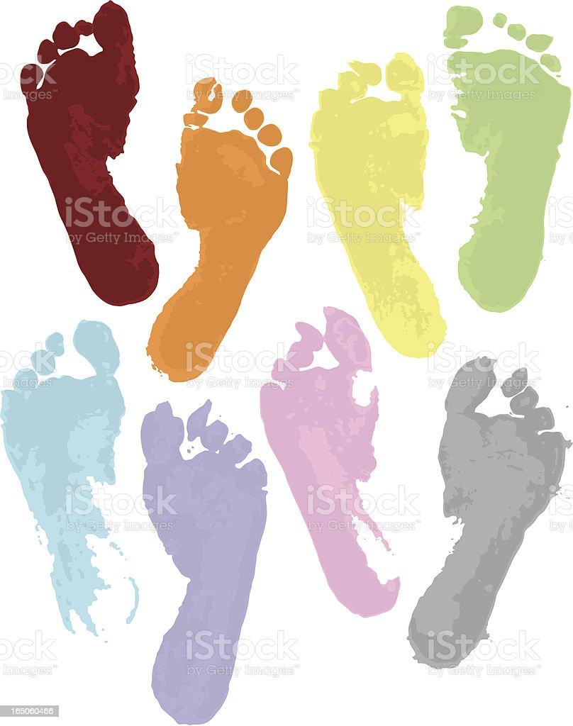 Rainbow Feet vector art illustration