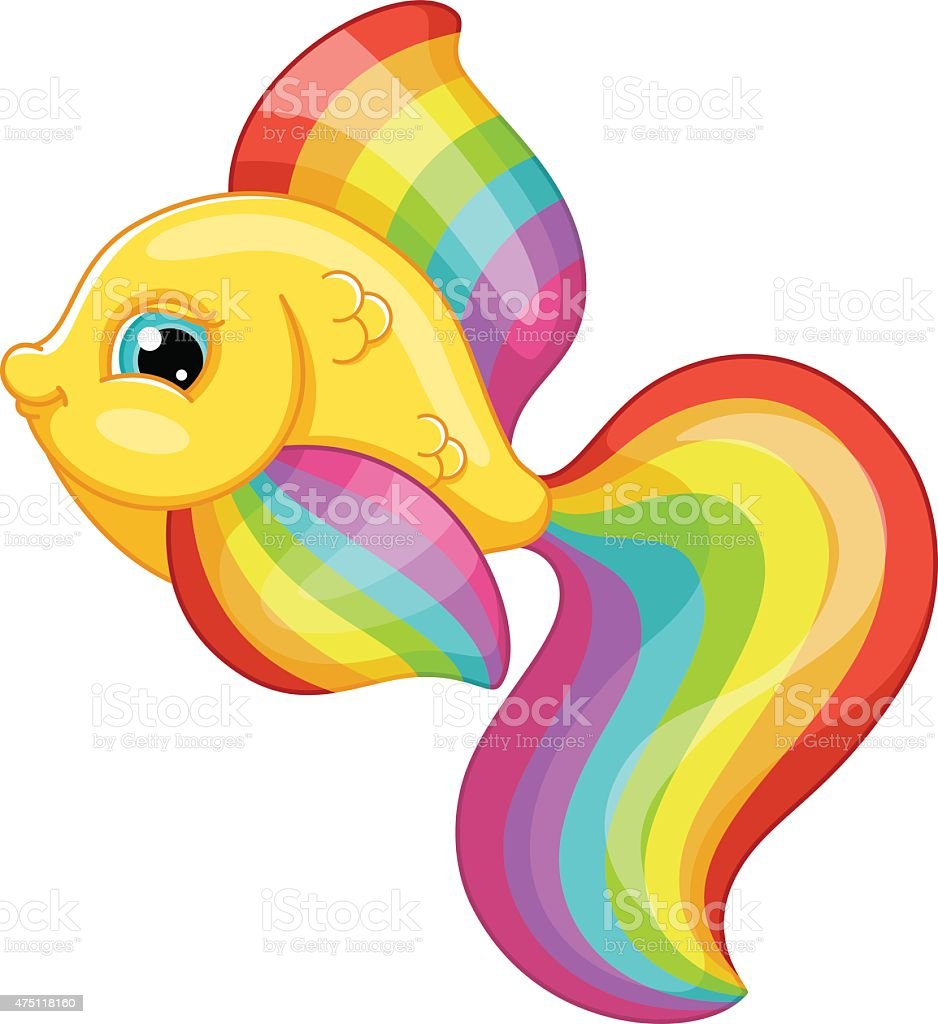 royalty free rainbow fish clip art vector images illustrations rh istockphoto com rainbow fish clipart black and white Rainbow Trout Fish Clip Art