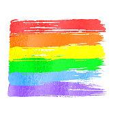 Rainbow flag as symbol of gay pride
