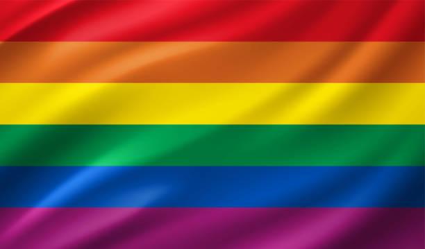 stockillustraties, clipart, cartoons en iconen met regenboogvlag - lgbt flag