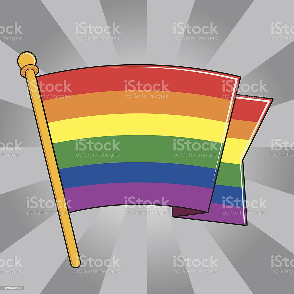 Rainbow Flag royalty-free stock vector art