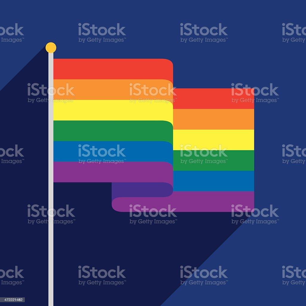 Rainbow Flag vector art illustration
