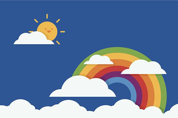 rainbow flat-design, vektor - smileys zum kopieren stock-grafiken, -clipart, -cartoons und -symbole