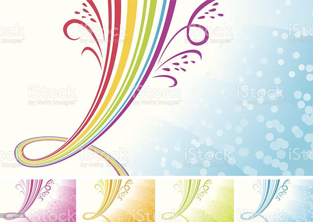 Rainbow fountain royalty-free stock vector art