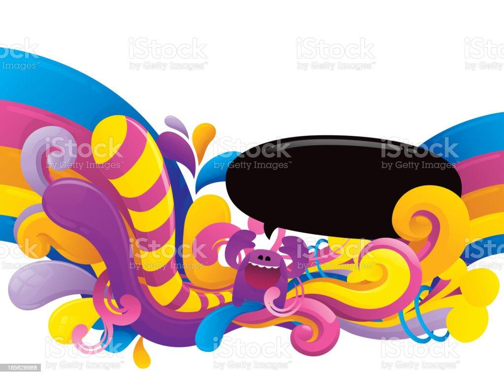Rainbow Funky Bottom Design
