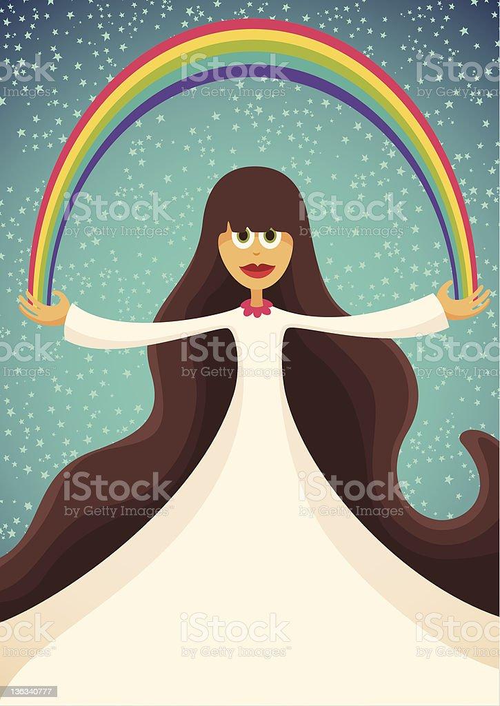 Rainbow girl. royalty-free stock vector art