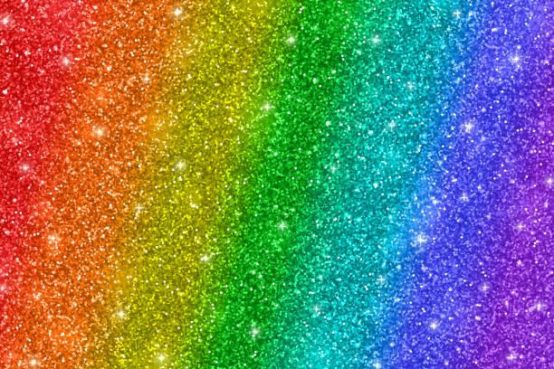 stockillustraties, clipart, cartoons en iconen met rainbow glitter achtergrond - regenboog