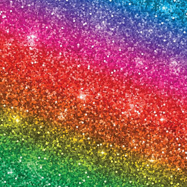 rainbow glitter background. vector - rainbow glitter background stock illustrations