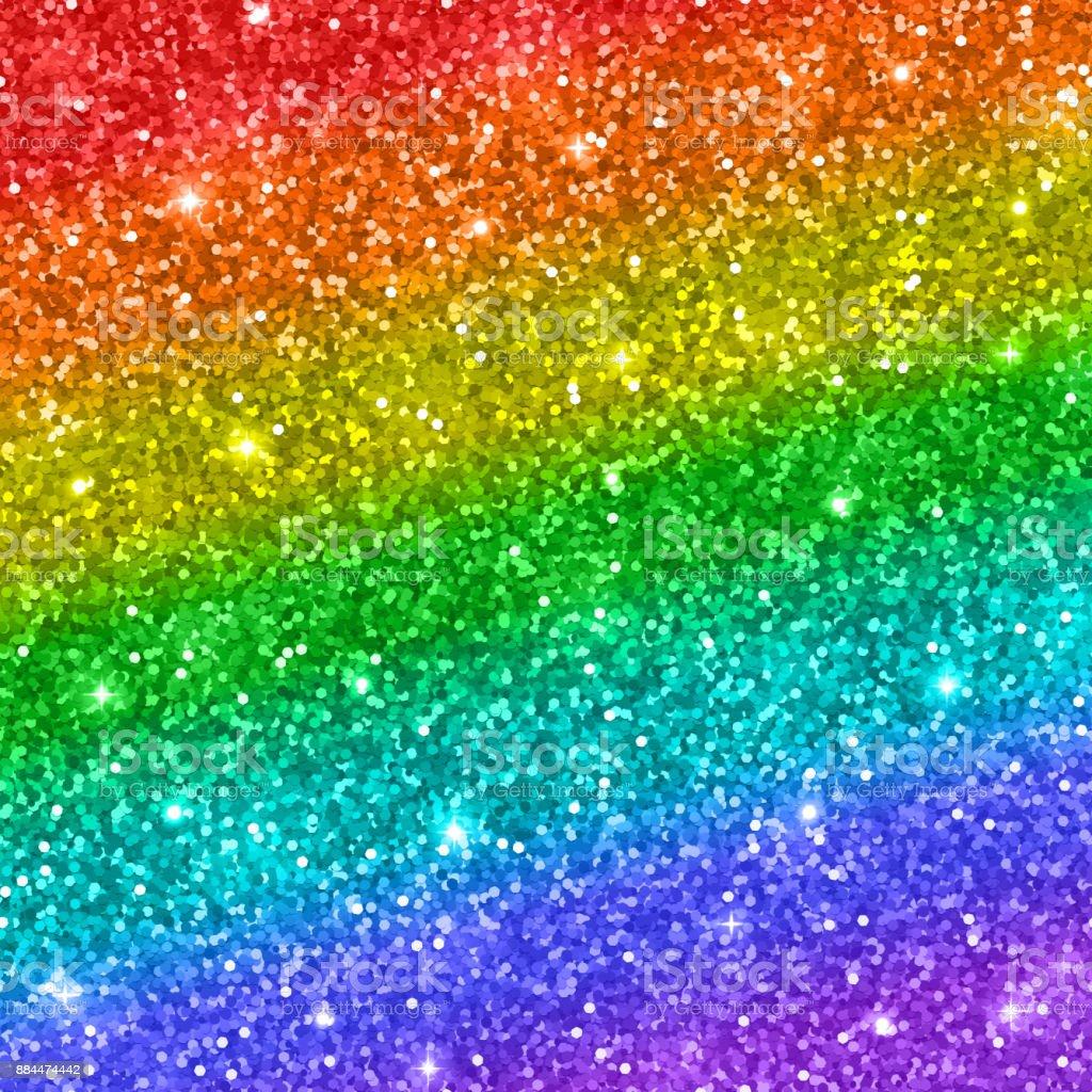 Rainbow Glitter Background Vector Stock Vector Art & More ...
