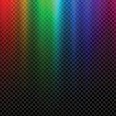 Rainbow glowing light. Northern light polar effect