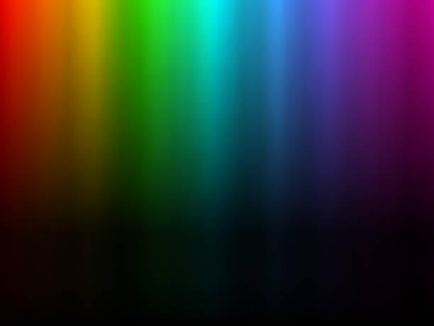bildbanksillustrationer, clip art samt tecknat material och ikoner med rainbow glödande ljus. norra polar ljuseffekt - northern lights