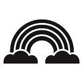 istock Rainbow Glyph Icon 1305166463
