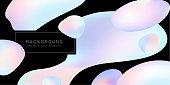 Rainbow gradient, background design, soap bubbles
