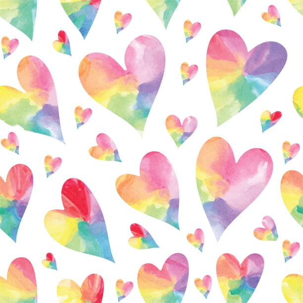 Royalty Free Rainbow Heart Clip Art, Vector Images ...