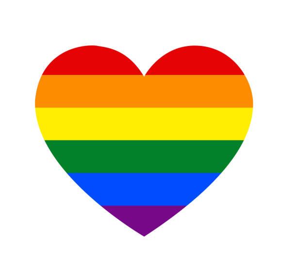 Rainbow Heartshape Rainbow Heartshape pride stock illustrations