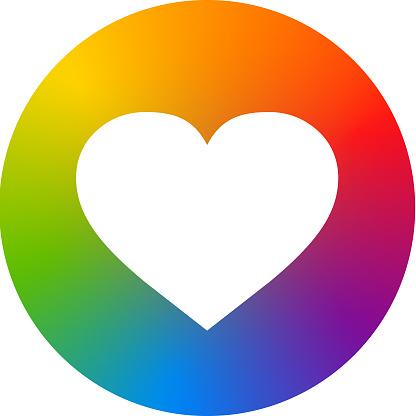 Rainbow Heartshape