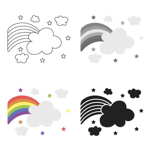 rainbow icon cartoon. single gay icon from the big minority, homosexual cartoon. - minority stock illustrations, clip art, cartoons, & icons