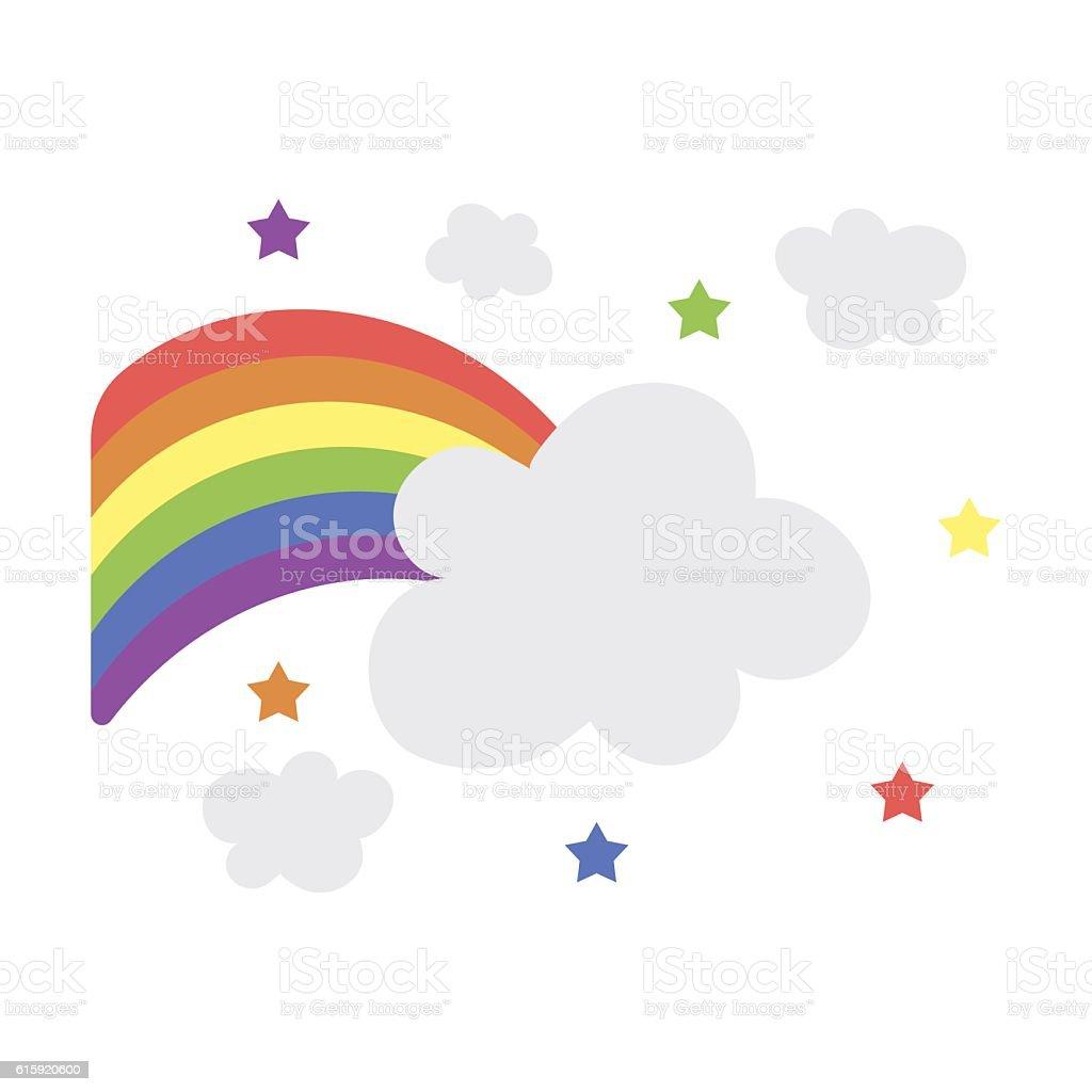 Rainbow icon cartoon. Single gay icon from the big minority, vector art illustration