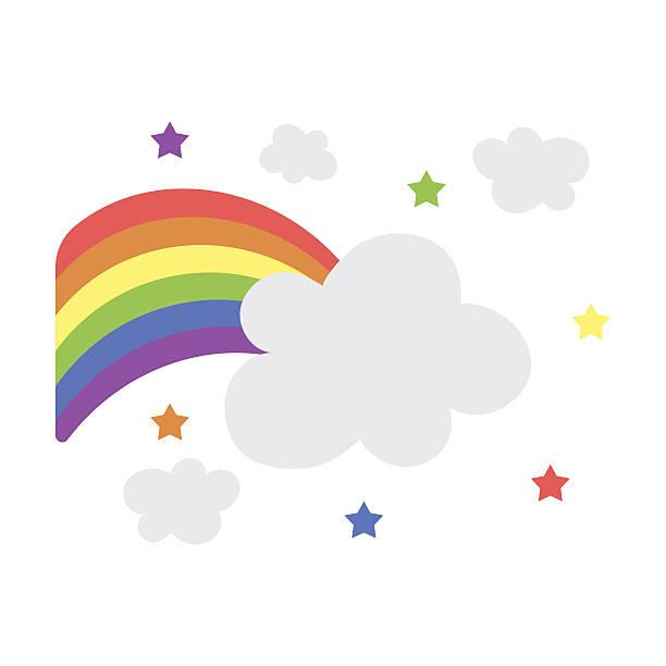 rainbow icon cartoon. single gay icon from the big minority, - minority stock illustrations, clip art, cartoons, & icons