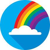 istock Rainbow Icon Flat Circle 875861172