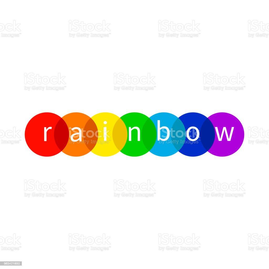 Rainbow icon, LGBT - Grafika wektorowa royalty-free (Abstrakcja)