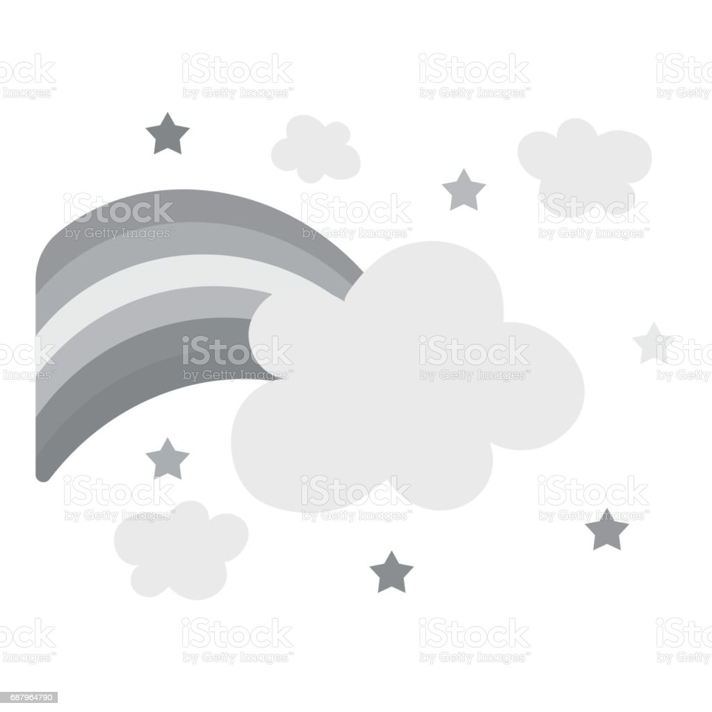 Rainbow icon monochrome. Single gay icon from the big minority, homosexual monochrome. vector art illustration
