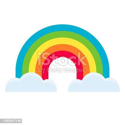 istock Rainbow Icon on Transparent Background 1282547145