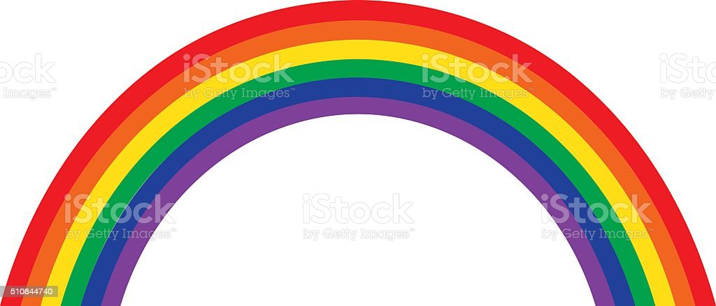 Rainbow Illustration, Classic Design vector art illustration