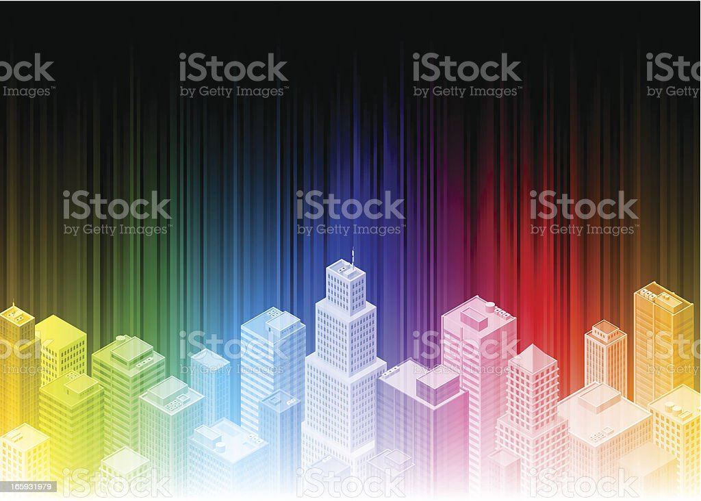 Rainbow isometric city royalty-free rainbow isometric city stock vector art & more images of abstract