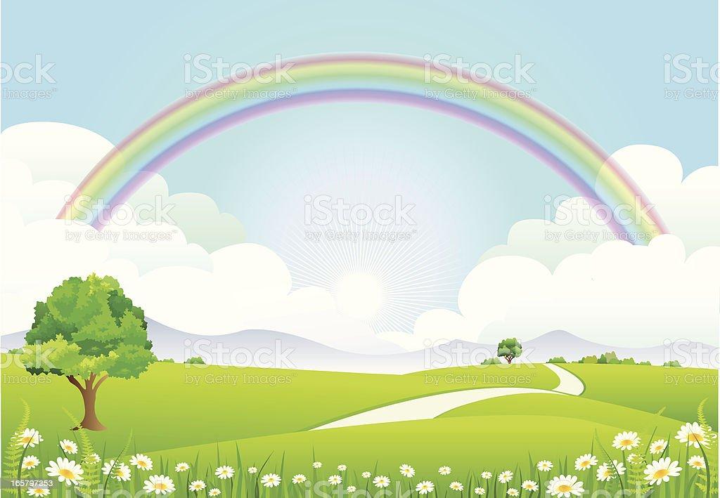 Rainbow Landscape royalty-free stock vector art