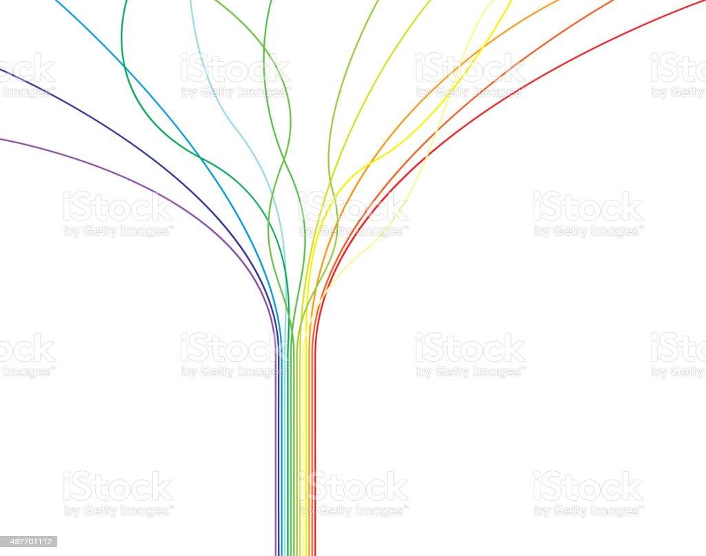 Rainbow lines vector art illustration