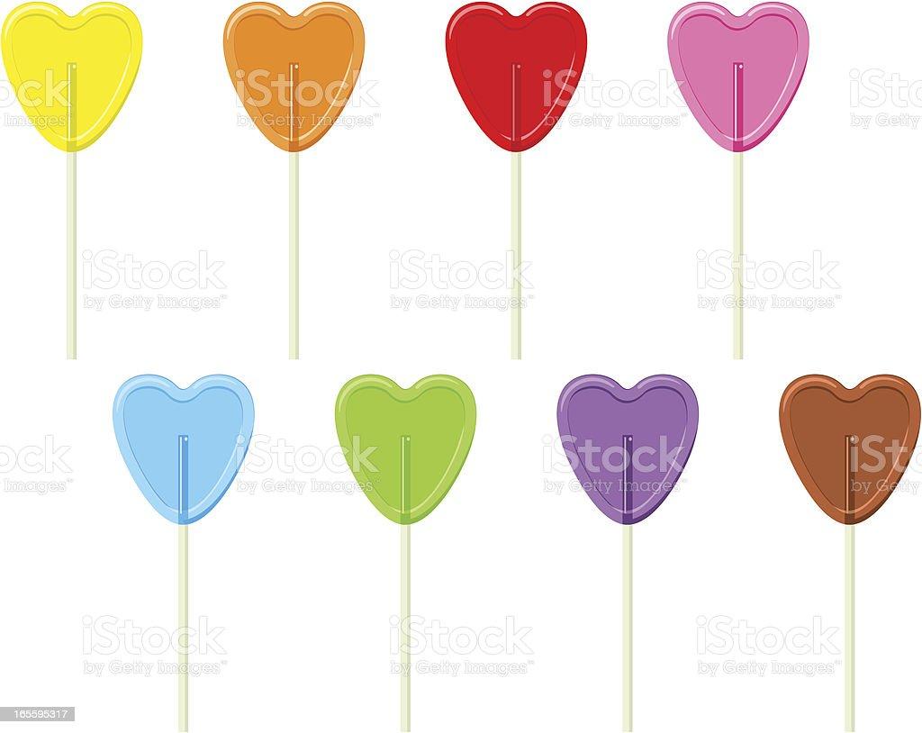 Rainbow lollypops royalty-free stock vector art