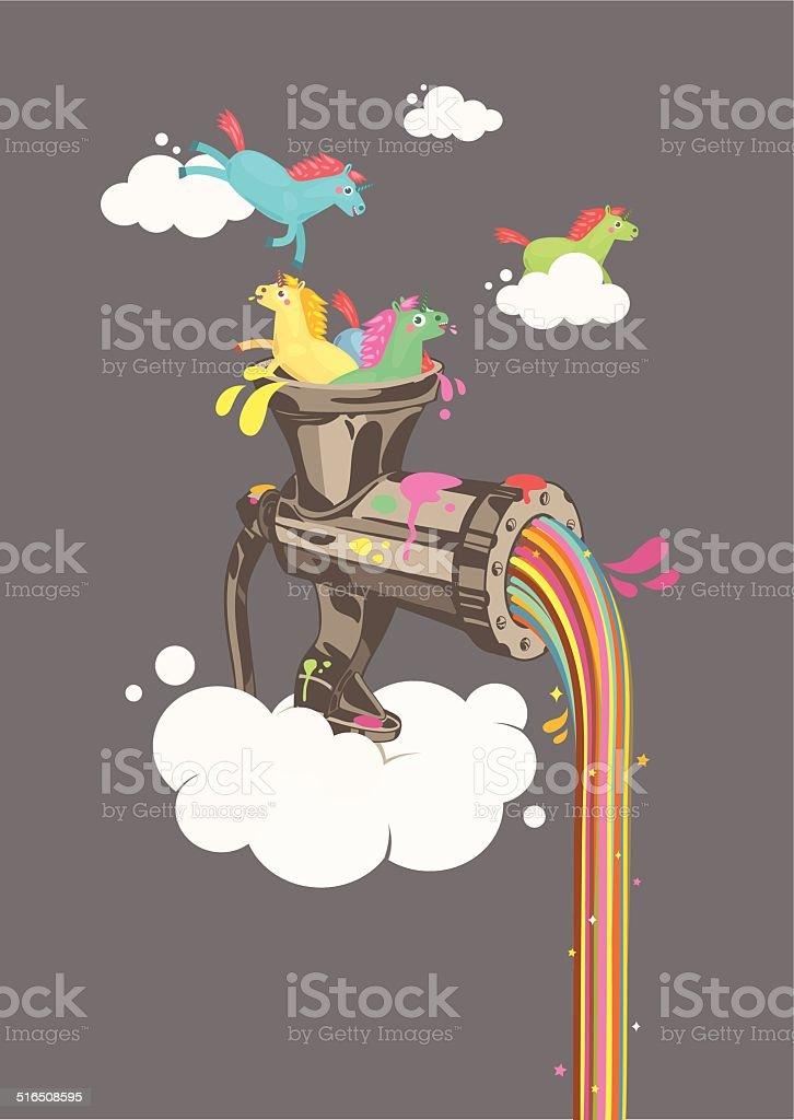 Rainbow Machine royalty-free rainbow machine stock vector art & more images of animal