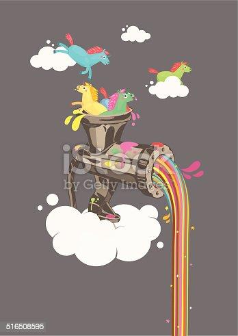 istock Rainbow Machine 516508595