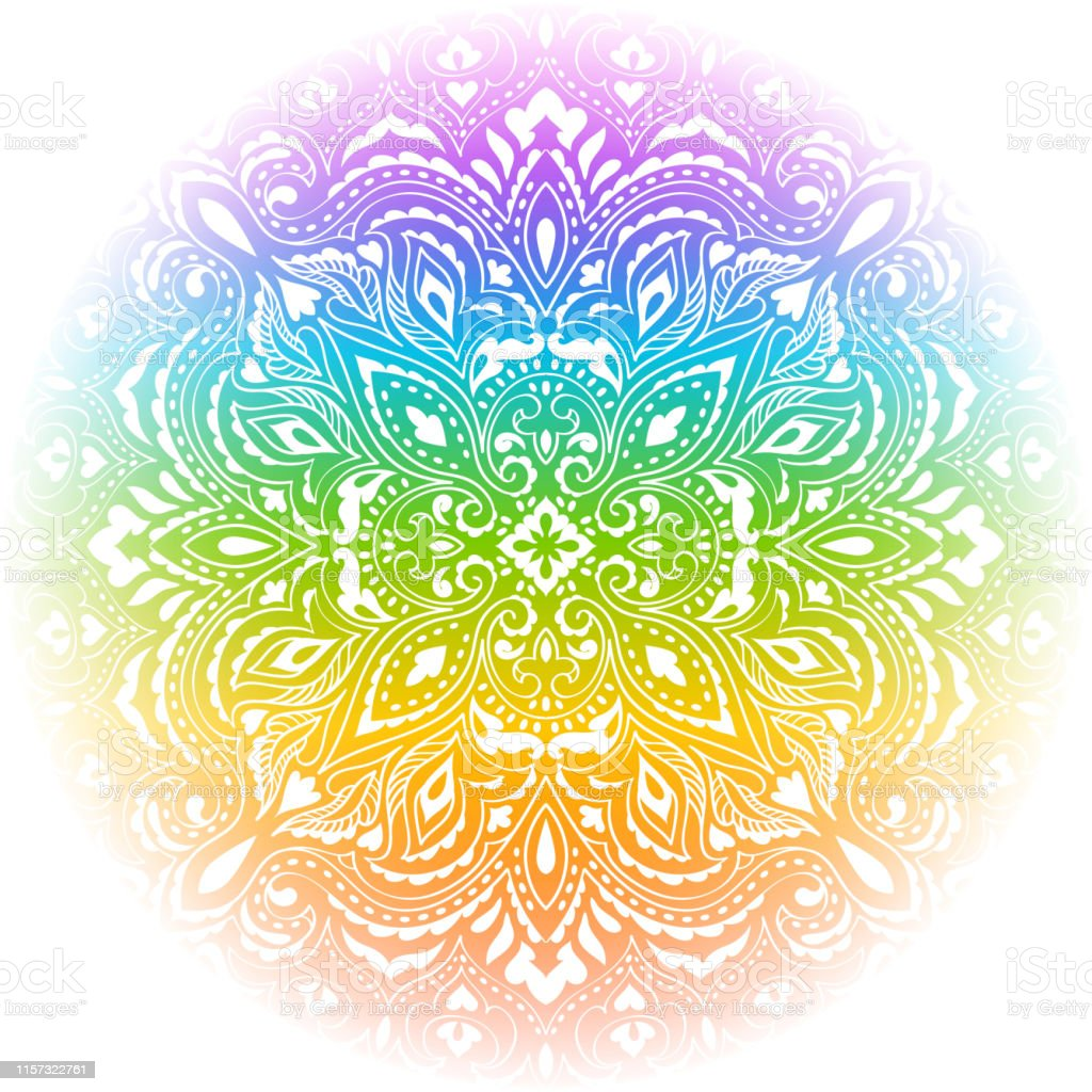 regenbogen mandala zum ausmalen  baldachin
