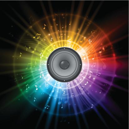 Rainbow music speaker design