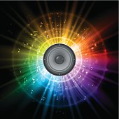 Rainbow music speaker design