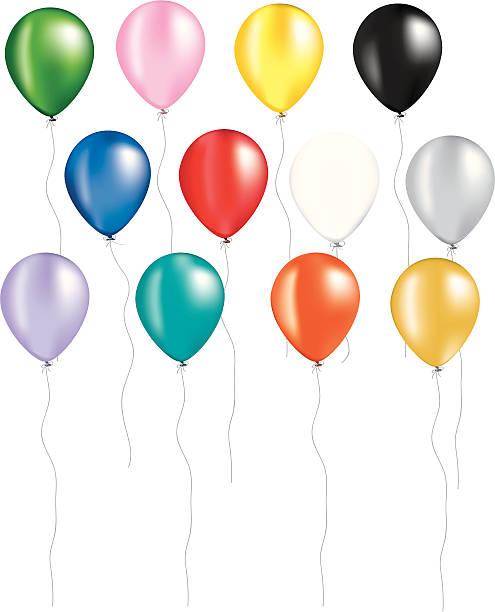 rainbow of balloons - heather mcgrath stock illustrations