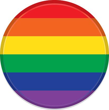 Rainbow or Pride Button, Icon
