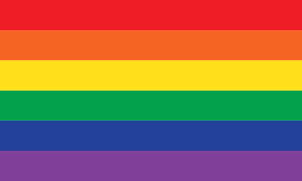 rainbow or pride flag - sembolizm akımı stock illustrations