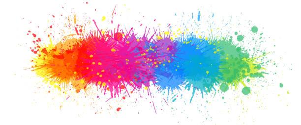 Rainbow paint splash background