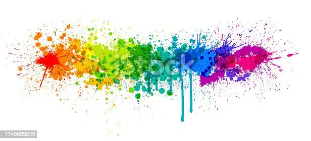 istock Rainbow paint splash 1145699526