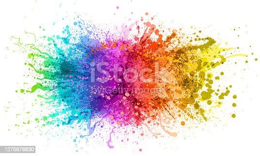 istock Rainbow paint splash 1275676830