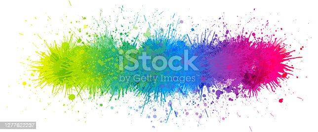 istock Rainbow paint splash 1277622237